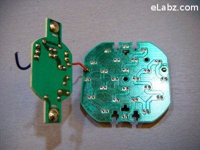 separate two PCBs to have access to the back of the LED PCB