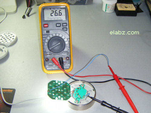 Current in the original Lights of America 7200 LED circuit