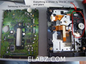 Samsung SCR3230E Innards - nothing useful for the project