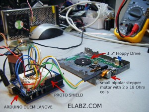 Arduino with ULN2803A Driving a small bipolar stepper motor