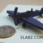 CNC files for laser cut miniature airplane model – Supermarine Spitfire