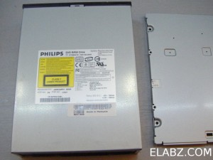Phillips DVD8631 drive ready to be disassembled