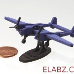 P-38J Lightning – CNC Files For The Laser Cut Miniature Model