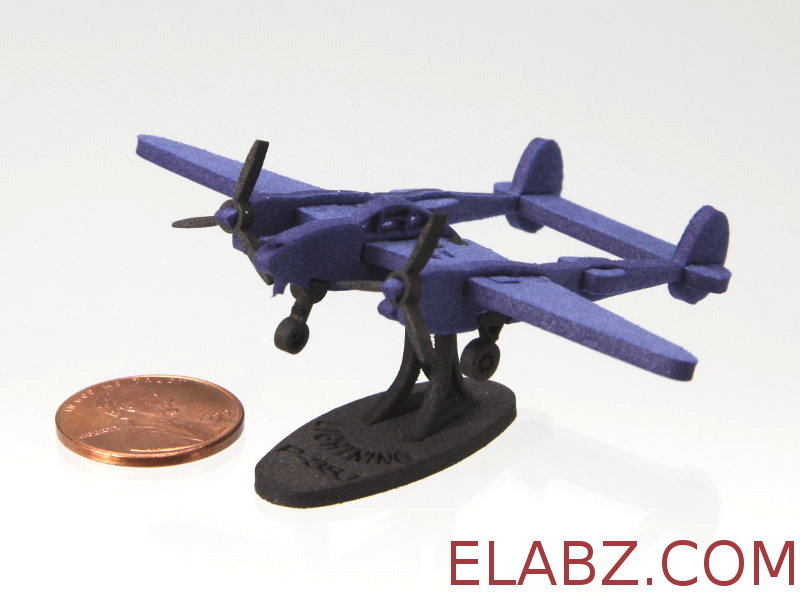Lockheed P-38J Lightning - miniature 1:212 laser cut foam model