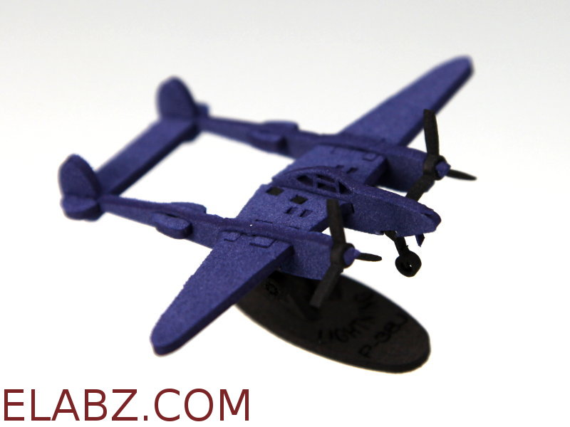 Lockheed P-38J Lightning - a 1:212 scale laser cut foam model