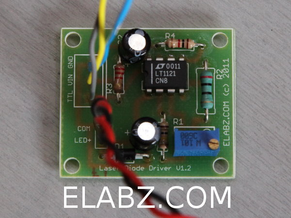 Laser diode driver based on LT1121.  PCB version 1.2,  populated.
