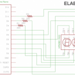 Arduino Nano and HP5082-7433 vintage 7-segment LED display