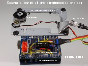 Essential parts of the Arduino Stroboscope project