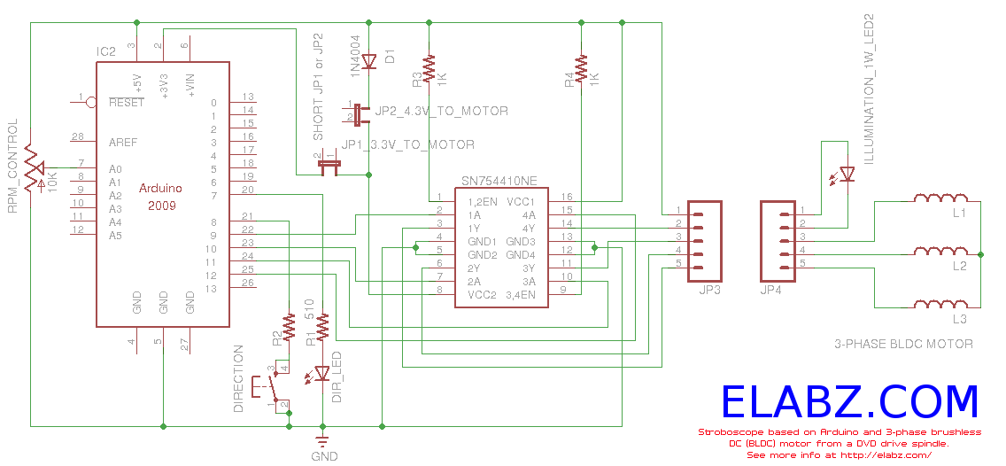 circuit_dagram brushless dc (bldc) motor with arduino part 3 the stroboscope bldc motor controller wiring diagram at creativeand.co