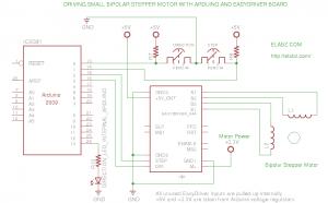 Arduino EasyDriver Bipolar Stepper Test Circuit