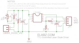 Elabz.com TTL-Controlled Laser Diode Driver