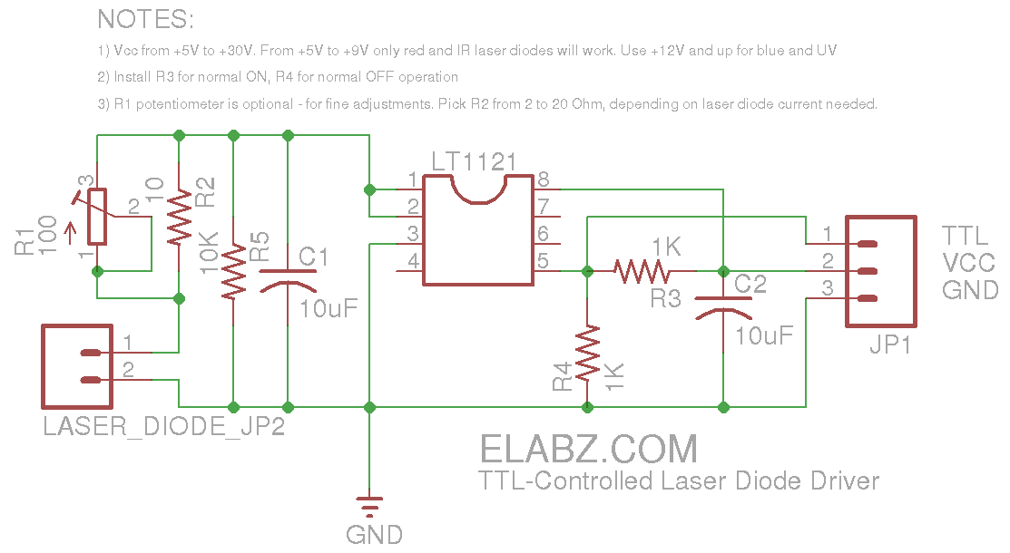 laser diode driver circuit arduino