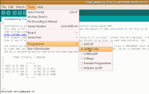 Arduino IDE 1.0 Pick the right Programmer before uploading the software