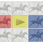 Eadweard Muybridge, zoetrope (zoopraxiscope) and … Google?