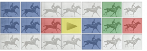 Google's Zoetrope Doodle (04-09-2012) to celebrate the birthday of Eadweard Muybridge