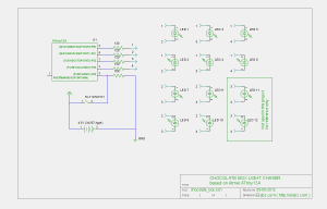 Circuit schematics for the ATTiny charlieplexed LED chocolate box project