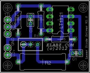 Elabz Laser Diode Driver Board  V2