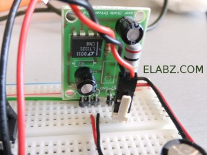 TTL-controlled laser driver board V2 on a breadboard