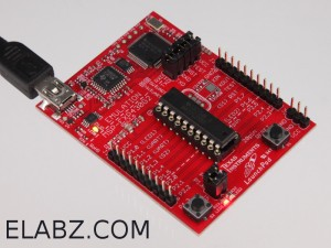 MSP430G2 Launchpad Development Tool powered via USB