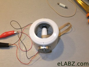 Base with motors and lower pulley