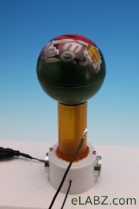 Van de Graaff generator from found parts and a $2 M&M'S candy tin