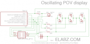 Oscillating POV display circuit diagram